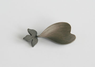 UNKNOWN PATH, brooch, silver, patina, 61 mm, 2010