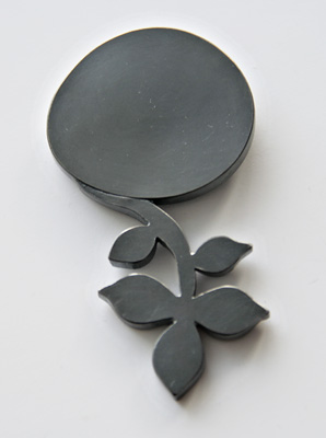 UNKNOWN PATH, brooch, silver, patina, 70 mm, 2009