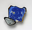 Spring On The Beach Sand, brooch, 2015, silver, patina, paint, butterflies wing, leaf gold