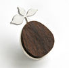 DESERT PATH, brooch, silver, wood, 60 mm, 2009