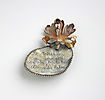 LETTERS FROM THE ISLAND, brooch, 2017, silver, patina, 0 x 0  mm