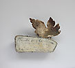 LETTERS FROM THE ISLAND, brooch, 2013, silver, patina, 70 x 60 mm