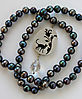 CAT, necklace, silver, patina, quarz, freshwater pearls