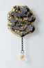 AN OLD OAK'S DREAM, brooch, silver, patina, leaf gold, glass, 65 mm, 2008