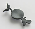 UNKNOWN PATH, brooch, silver, patina, 76 mm, 2008